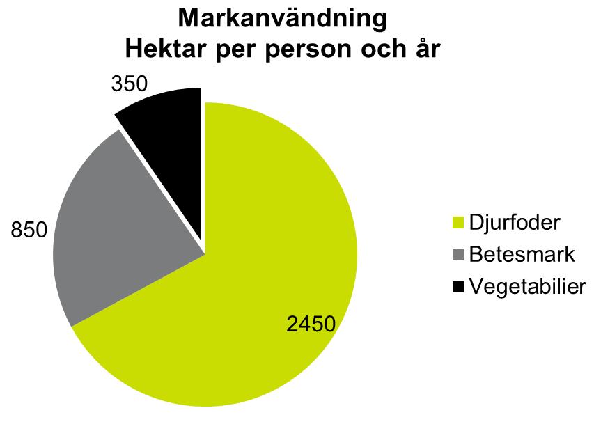 Markanvändning hektar per person och år